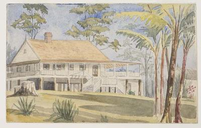 Newly constructed Winterbourne homestead, Branscombe Plantation