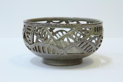 Carved poinciana seed bowl