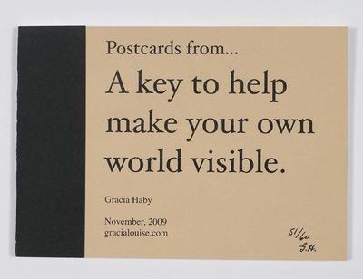 Postcards from... a key to make your own world visible