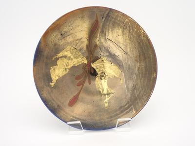 Gold leaf lustre plate